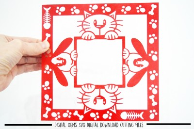Cat and Dog paper cut SVG / DXF / EPS Files