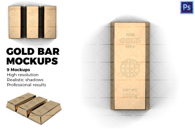 Gold bar Mokcups