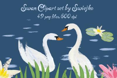 Swan Clipart Set