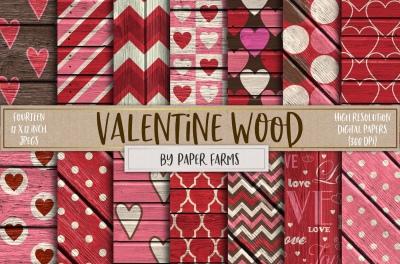 Rustic Valentine patterns