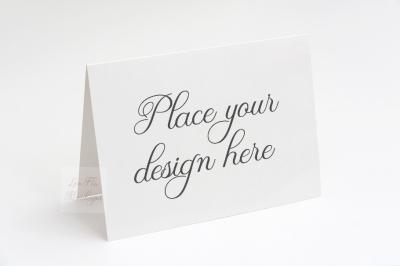 A2 Greeting card invitation mockup psd horizontal mock up 5.5x4.25