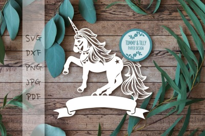 Unicorn Cutting File SVG DXF PNG PDF JPG