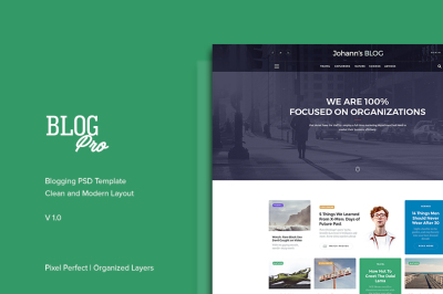 Blog Pro - PSD Template for Blogs