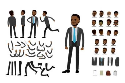 Businessman character constructor