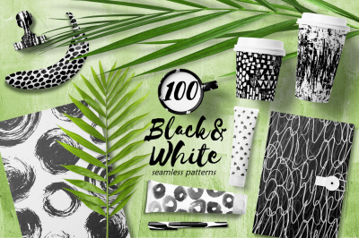 100 Abstract Black&White Patterns