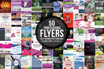 Bundle of 50 Flyers Template