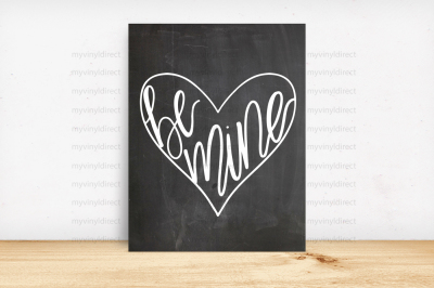 Valentine's Be Mine Digital Cutting File