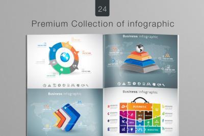 24 Premium Collection of Infographics