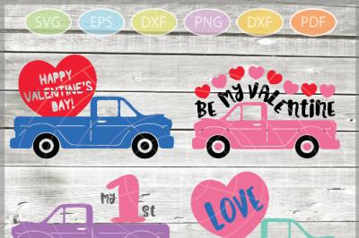 Valentine truck svg -  truck SVG - Valentine truck WITH HEART svg -Tru