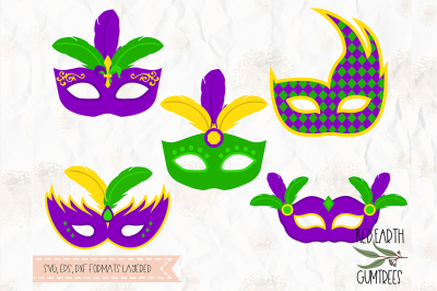 Mardi Gras mask, carnival SVG, PNG, EPS, DXF, PDF for cricut, cameo