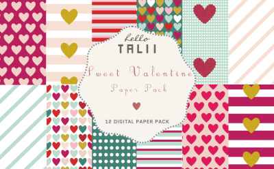 SWEET VALENTINE PAPER PACK