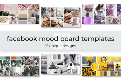 Facebook Mood Board Templates
