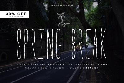Spring Break Font + Bonus Graphics