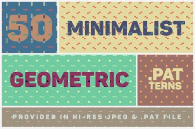 50 Minimalist Handdrawn Geometric Patterns - $1 DEAL