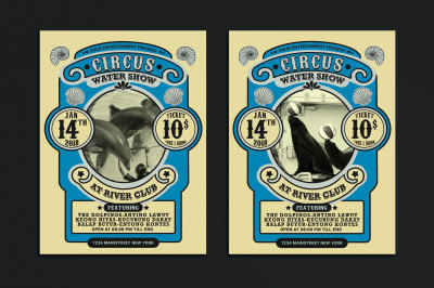 Vintage Marine Circus Carnival Flyer