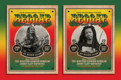 Reggae Music Flyer