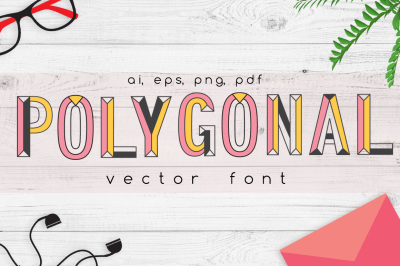 Polygonal Vector Font