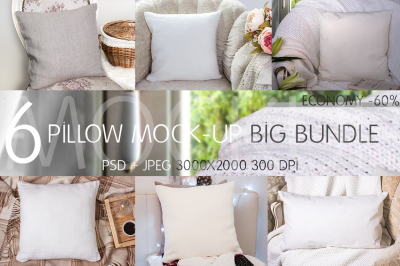 Pillow Mock-up Big Bundle