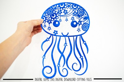 Jellyfish paper cut SVG / DXF / EPS Files