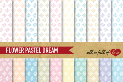 Hand draw Floral Digital Paper Pack: Dream Collection