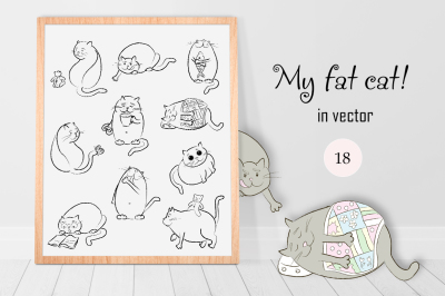 My fat cat! (in vector)