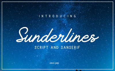 Sunderlines - Script and Sanserif