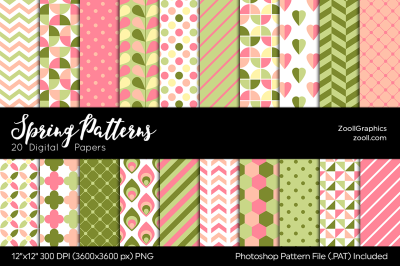 Spring Patterns Digital Papers
