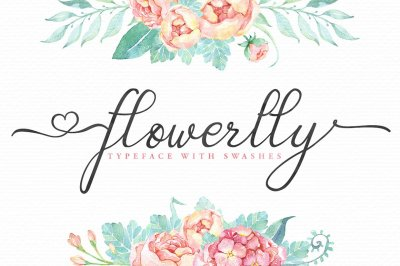 Flowerlly Swashes Font
