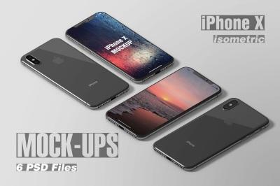 Isometric iPhone X Mockup