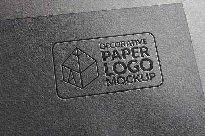 Decorative Paper Logo Mock-up 3