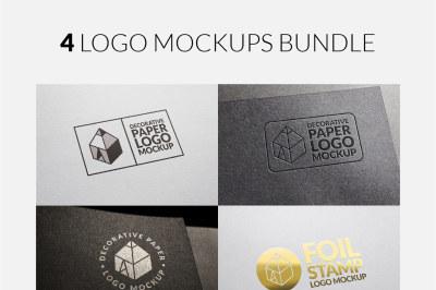 4 Logo Mock-ups Bundle