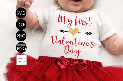 my 1st valentines Day Valentines SVG, DXF File, Svg Files Fo