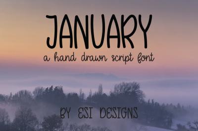 January - A Hand Drawn Script Font