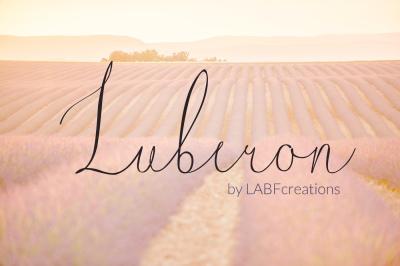 Luberon. original FINE ART typeface. Modern calligraphy typeface elega
