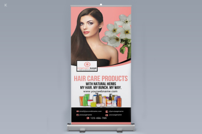 Hair Products Roll up Banner