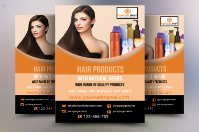 Hair Products Flyer Template