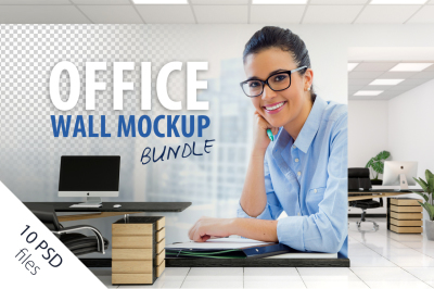 OFFICE Wall Mockup Bundle