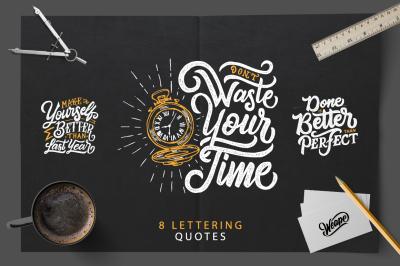 SVG Bundle - Hand Lettering Motivational Quotes