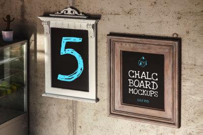 Chalc Board Mock-ups