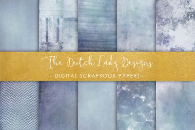Scrapbook Paper - Blue Jeans Watercolor Texture Patterns