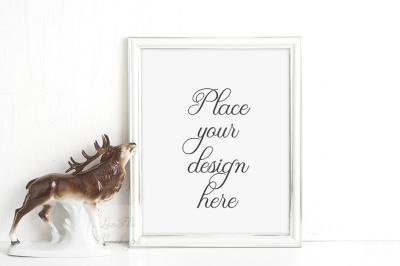 Mockup frame, product mock up, psd smart white frame template mockups