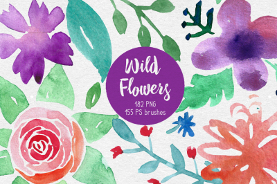 Wild Flowers. PS brushes