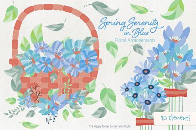 Spring Serenity Flower Arrangement Clipart, Vectors, Graphics, Flower,