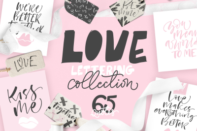 Love - lettering collection.