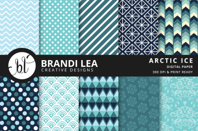 Arctic Ice Patterned Digital Paper