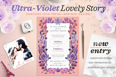 Ultra-Violet Lovely Story Invite I