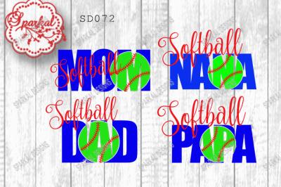 Softball Fan Cutting Files