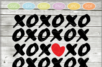 XOXO Distressed svg - XOXO Svg - Hugs and Kisses svg - Valentine SVG -