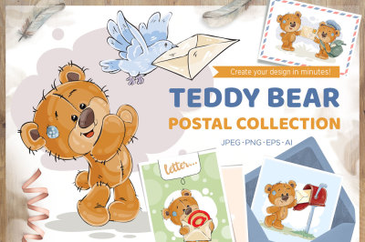 Teddy Bear. Postal collection