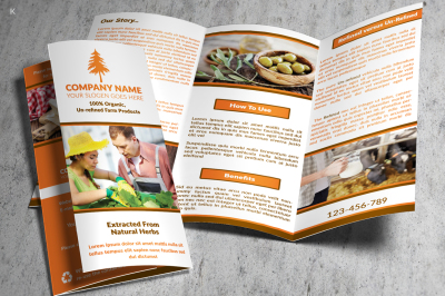 Farm Products TriFold Template